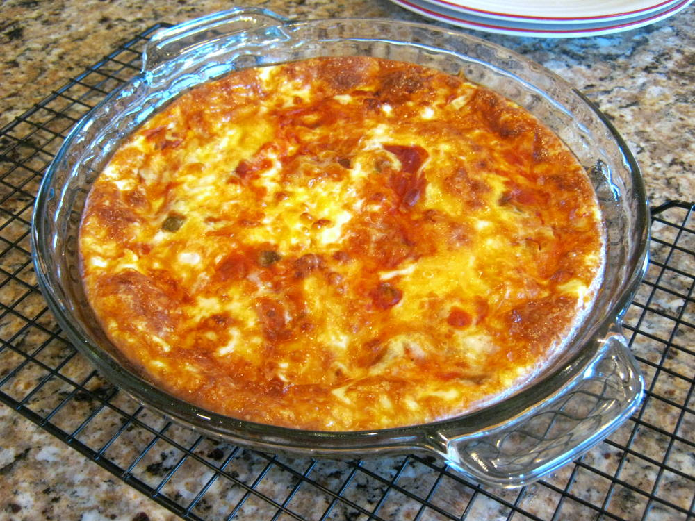Crustless Cheese and Salsa Quiche