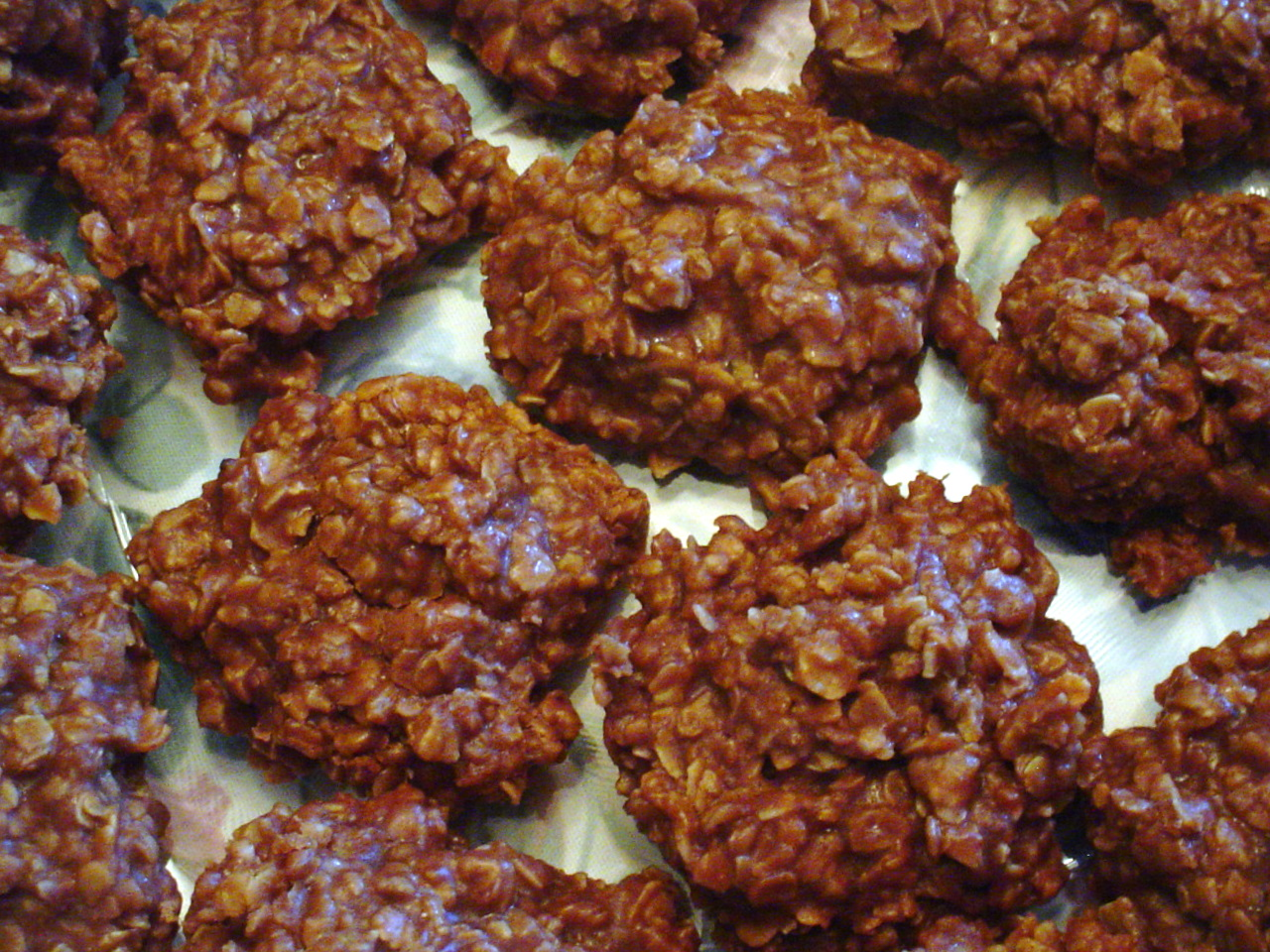 No Bake Chocolate Oatmeal Cookies fs