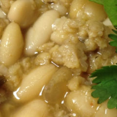 White Bean Chili, Vegetarian with Soy Crumbles