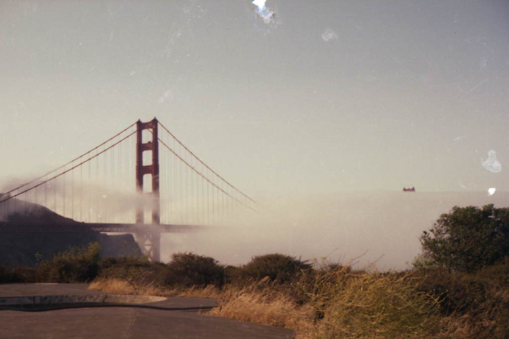 golden gate bridge 1980 by Sherry Ibidii