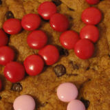 Giant Heart Valentine Chocolate Chip Cookie