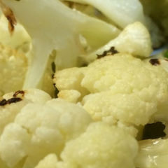 Roast Cauliflower with Lime