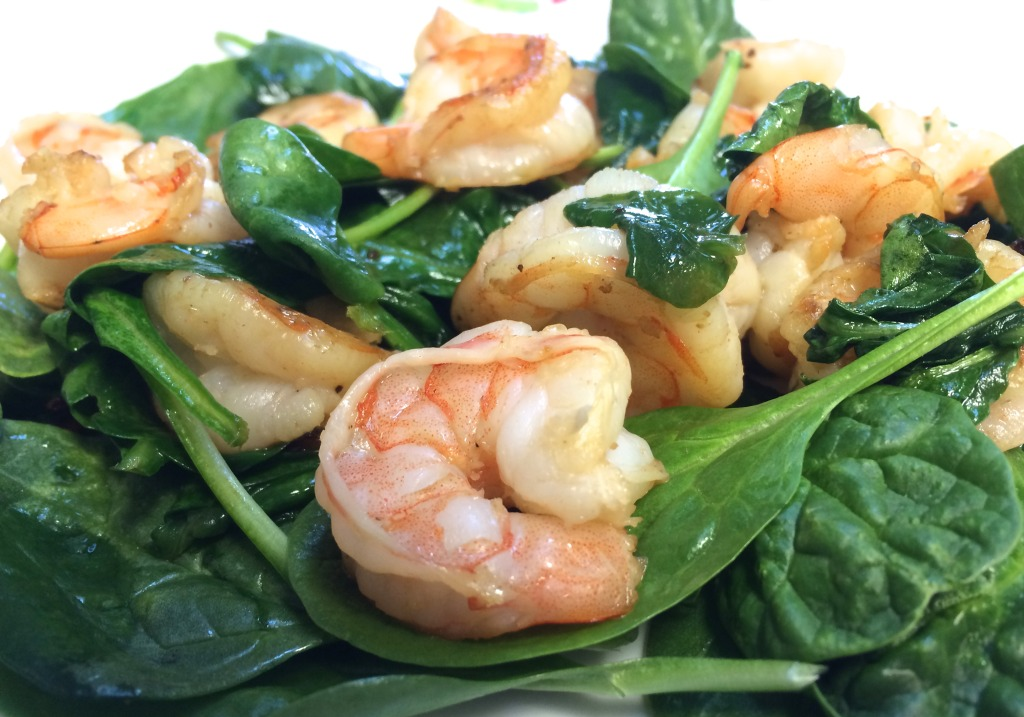 Garlic Shrimp and Spinach Sautéed in Coconut Oil | JAQUO ...