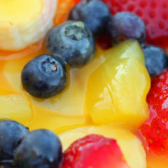 Summer Fruit Salad with Creamy Honey-Lime Dressing