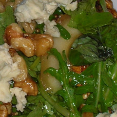 Watercress, pecan and blue cheese salad