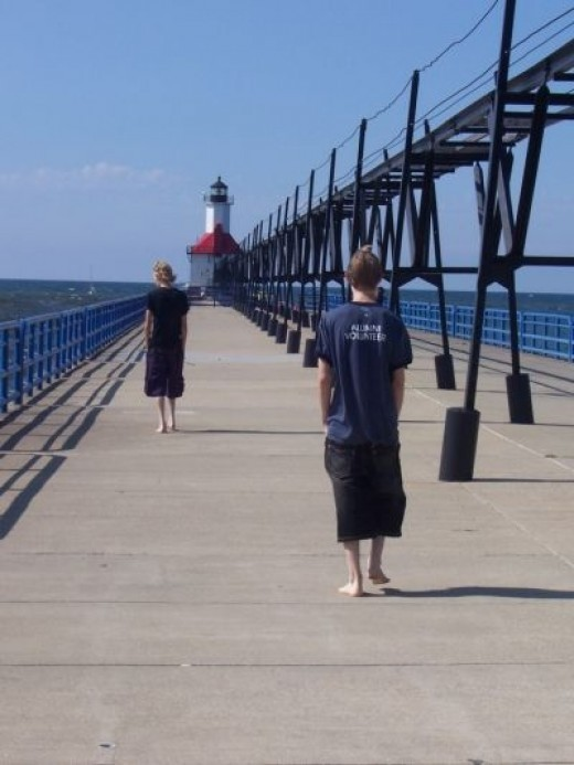 My Boys Walking On The Pier