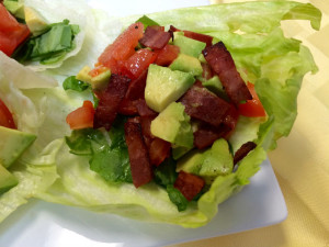 Bacon lettuce wraps 2sm