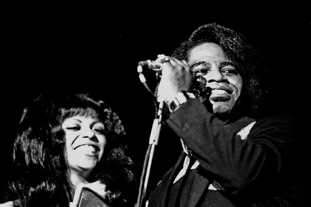 James Brown, Februar 1973, Musikhalle Hamburg. Photo by Heinrich Klaffs / Flickr Creative Commons.