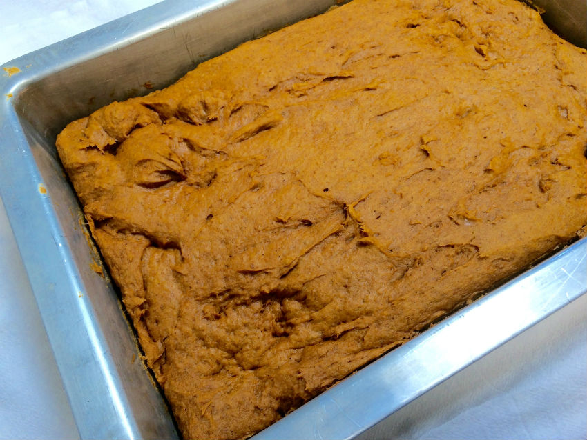 Pumpkin spice bars s