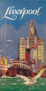 Vintage Travel c1930 LIVERPOOL BROCHURE COVER Reproduction Poster - MORE DETAILS