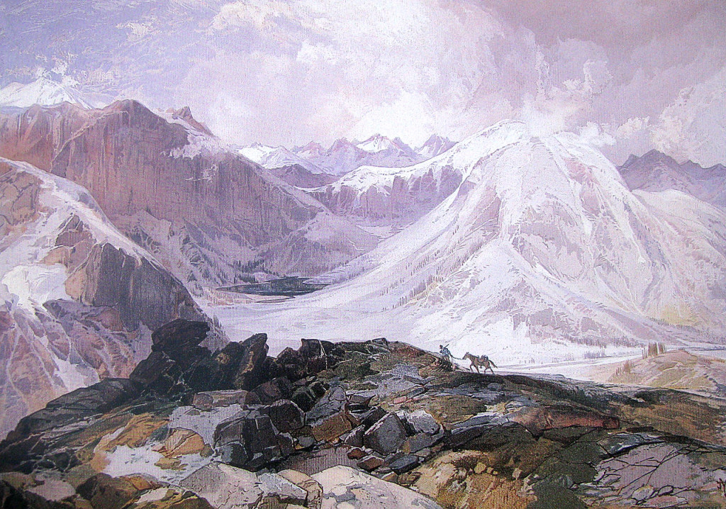 Thomas Moran's painting of the Mosquito Trail, Rocky Mountains, Colorado