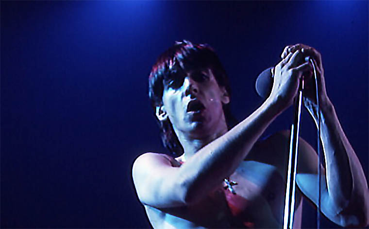 Iggy Pop performing at Massey Hall, Toronto, 1973 - photo by Jean-Luc Ourlin