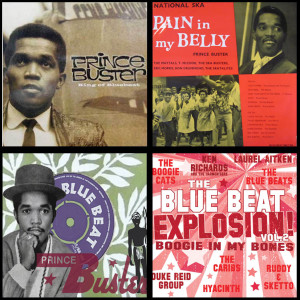 Montage Credits : Cover art 'Prince Buster, King of Bluebeat' ©Tam-Tam Media ; Cover Art 'Pain In My Belly' ©Bluebeat Records ; Label scan 'Hill Billy' Prince Buster Records ; Prince Buster and Rico - cover art 'Blue Beat Explosion' 1964 ©bluebeat Records