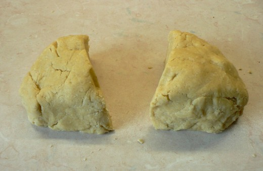 "Divide the pastry into two. Roll out one piece to a 9"" long x 4"" wide rectangle"