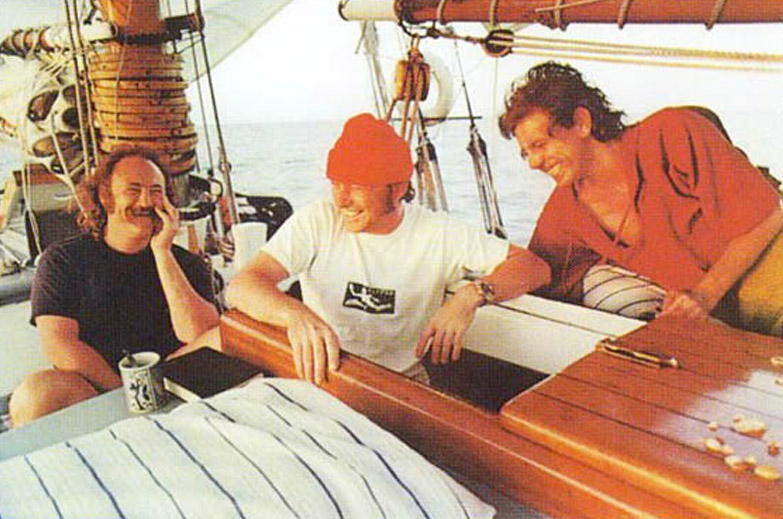 "The cover of Crosby, Stills and Nash's 1977 album ""CSN"" featured a photo taken on Crosby's schooner, the Mayan."