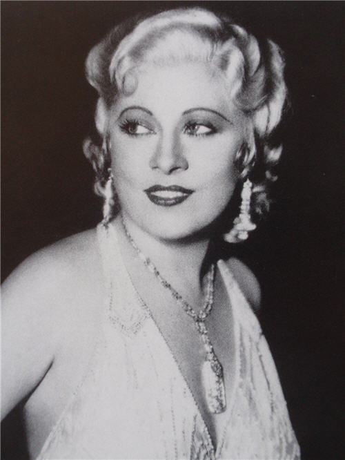 Candid shot of Mae West