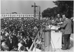 Peter, Paul and Mary at Civil Rights March on Washington DC, 1963