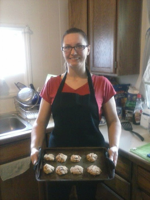 Cookies are done and here is daughter Silver.