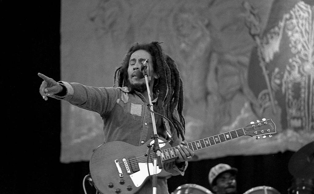 Bob Marley in Dublin, Ireland by Eddie Monosnaps. See more of his images of Bob Marley here.