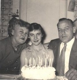 Celebrating my 15th Birthday with my Mother and Father