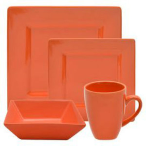 Ten-Strawberry-Street-Nova-16-Piece-Square-Dinnerware-Set-in-Orange-NOVA-16SQ-ORNG