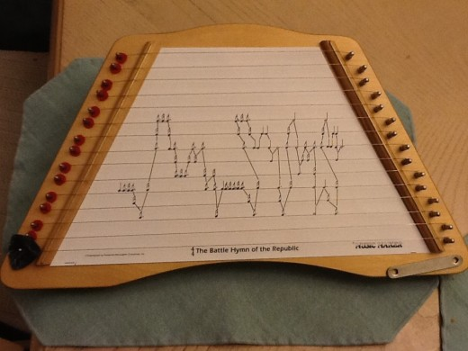 Here's my zither loaded with sheet music
