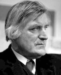 Ted Hughes, March 1993. (via Wikimedia Commons)