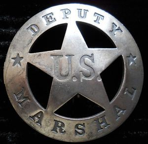 Example of U.S. Deputy Marshal Badge worn in the 1800s
