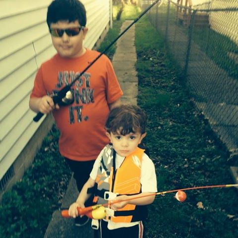 Bobby and Tyler fishing