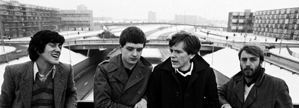 Joy Division on Epping Walk Bridge, by Kevin Cummins.