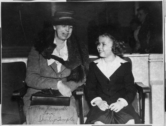 Shirley Temple with Eleanor Roosevelt - Public Domain photo