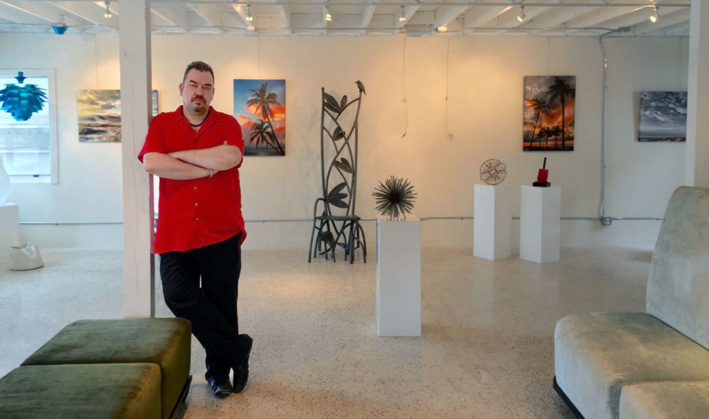 Andy Royston at the North Beach Village Design Gallery, October 2015
